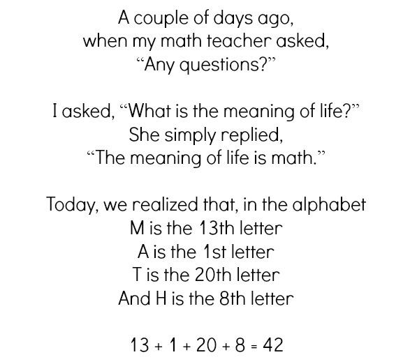 The meaning of life explained